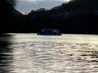 スローライフ日記-見えてきたドーム船