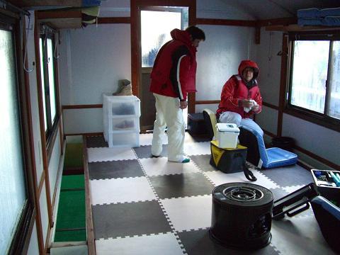 スローライフ日記-ドーム船室内