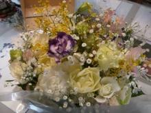 スローライフ日記 (ガンとの闘病日記はもうすぐ終わりにします)-父の会社同僚からのお花