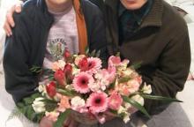 スローライフ日記 (ガンとの闘病日記はもうすぐ終わりにします)-母が家で最後に受け取ったお花