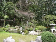 スローライフ日記-お店の外の庭