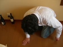 東京でプチスローライフ-私もこぼして拭く羽目に
