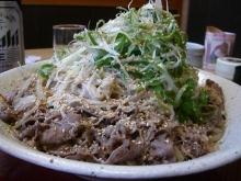 東京でプチスローライフ-ネギ沢山の肉そば