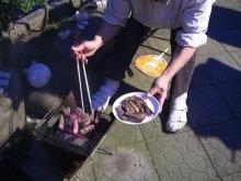 東京でプチスローライフ-牛ステーキ焼けました!