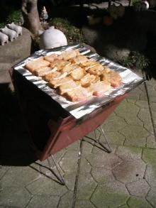 東京でプチスローライフ-豚肉も焼きました!