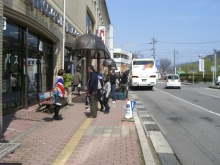 東京でプチスローライフ-シャトルバス乗り場