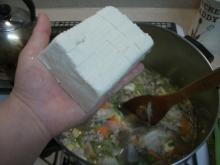 東京でプチスローライフ-豆腐を投入