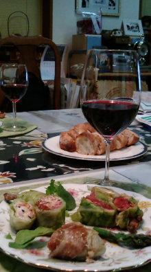 東京でプチスローライフ-赤ワインといただきました