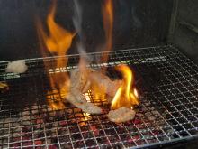 ログハウスでワインを楽しむスローライフ日記-豚肉を焼く