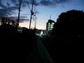 140927夜明け前、三山木から玉水橋方面へ。