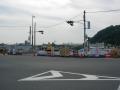 141011御幸橋南詰八幡駅側は道路付け替え工事中