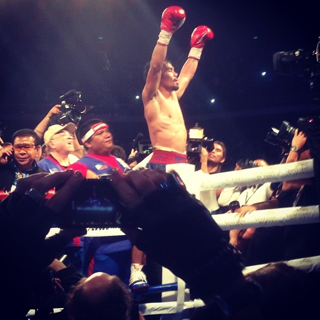 Winner winner chicken dinner congratulations mannypacquiao
