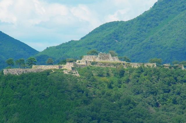 46立雲峡から見る 竹田城跡