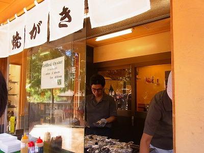 36宮島で焼き牡蠣