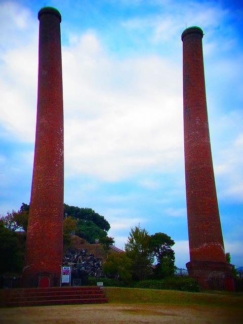 12三井田川炭鉱跡の煙突