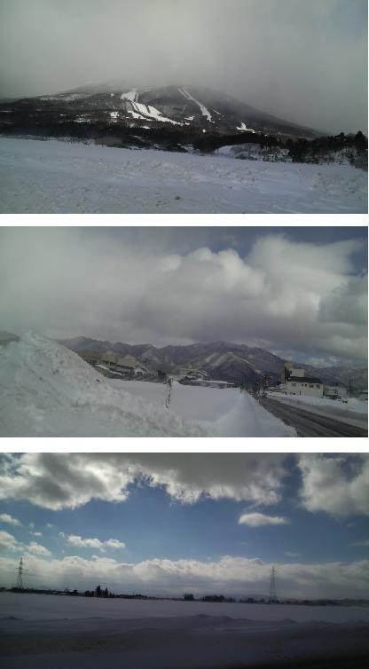 雪の表磐梯