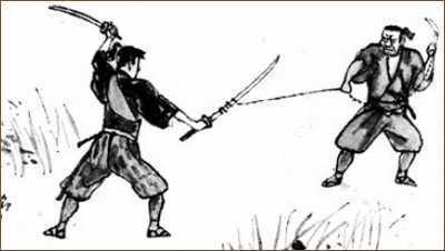 石井鶴三:画、「二天の巻」(吉川英治「宮本武蔵」朝日新聞)