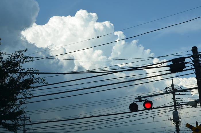 入道雲と電線2