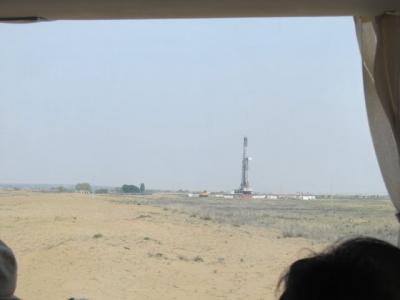 天然ガスの採掘基地