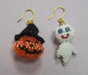halloween 南瓜とオバケ