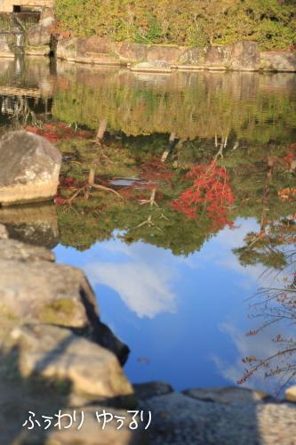 水面に映った紅葉