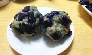 紫芋の石垣団子