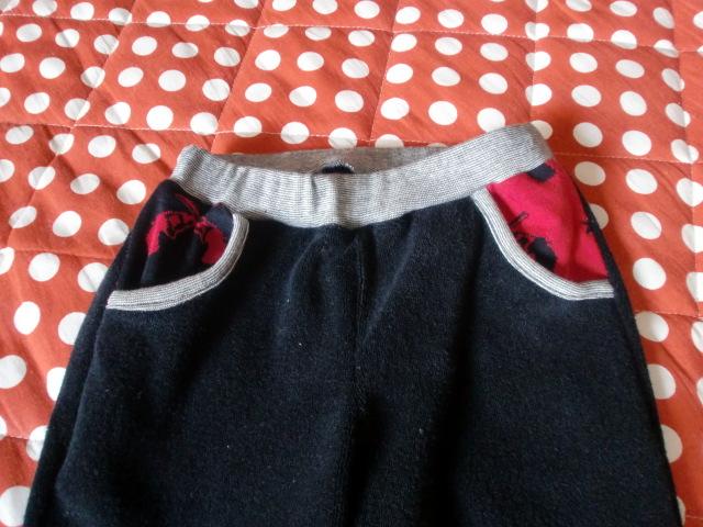 息子パンツ ポケット
