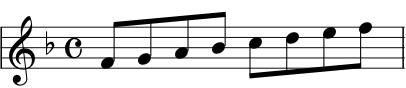 f' g' a' bflat' c'' d'' e'' f''