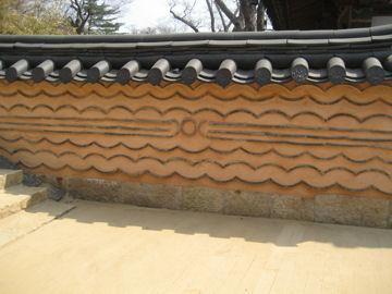 波紋による塀(韓国)
