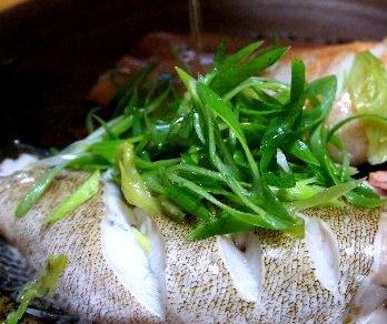 蒸し魚仕上げ