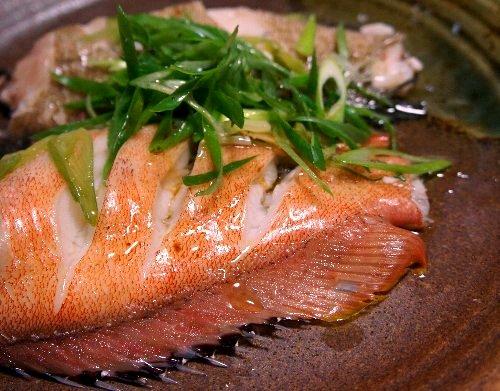ハタの蒸し魚