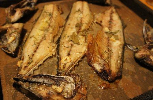 サバのアラのオーブン焼き