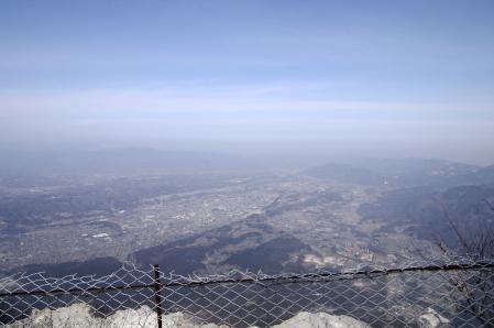 山頂から秩父市街