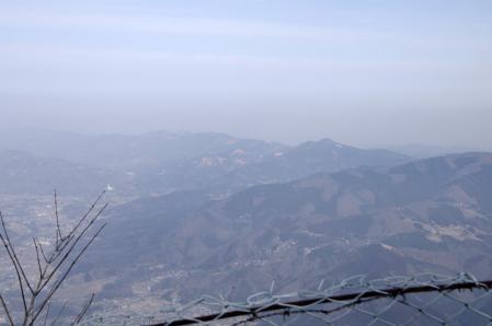 山頂から外秩父の山々
