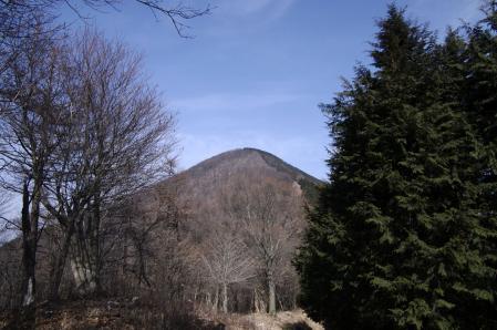 シラジクボ付近から裏武甲山