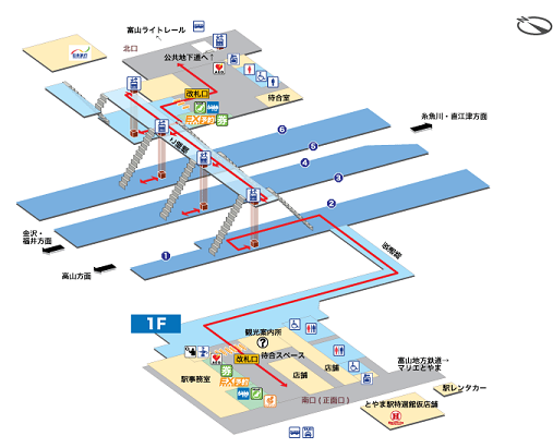 JR富山駅構内図