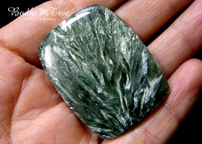 天然石セラフィナイト・ルースd12011617