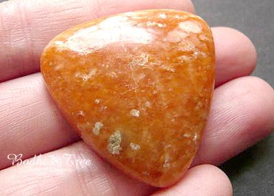 天然石オレンジカルサイト・ルースc120110129