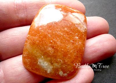 天然石オレンジカルサイト・ルースb120110145
