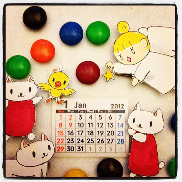 【おねがいテーミス】2012年1月カレンダー