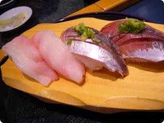 魚がし鮨 鯵 白身