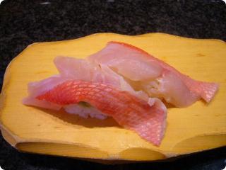 魚がし鮨 金目鯛