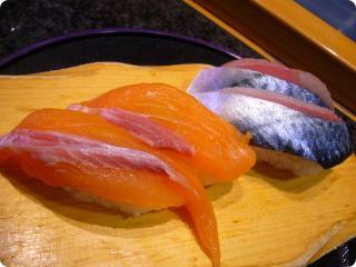 魚がし鮨 サーモン 生さば