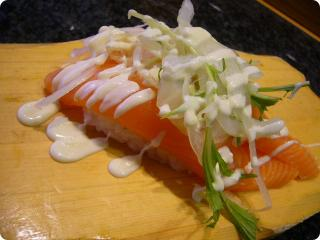 魚がし鮨 サーモンマヨ
