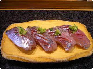 魚がし鮨 あじ