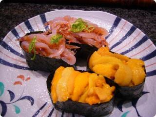 魚がし鮨 ウニ&生桜海老