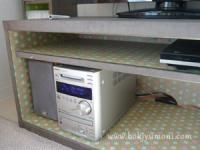 韓紙工芸@IKEA家具のリフォーム(TV台)その2