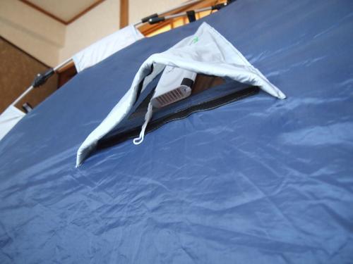 テントに換気扇