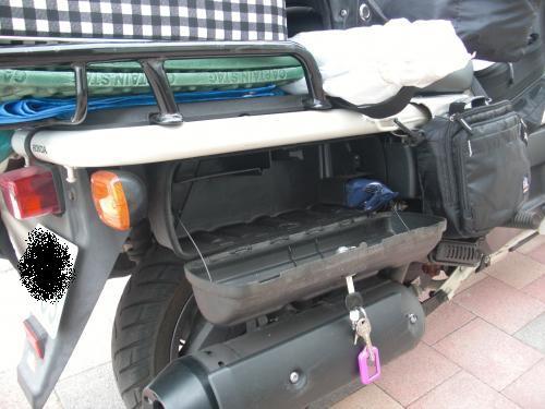車体の収納