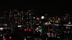 シーサイドトップからの夜景:勝どき・晴海方面